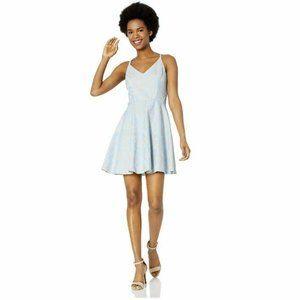 Speechless Junior 9 Nude Blue Dress NWT BR20